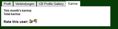 karma Bewertung der Profile