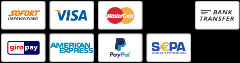 Accept Visa, Mastercard, Discover, American Express, PayPal and SEPA Direct Debit payments,Bahrzahlen