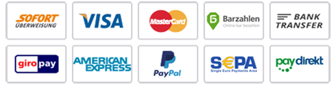 Accept Visa, Mastercard, Discover, American Express, PayPal and SEPA Direct Debit payments